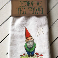 Gnome Tea Towel
