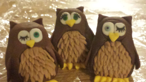 Edible Cake Image Owl : edible owl cake toppers made of gumpaste, from ...