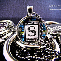 Slave Glass Pendant - BDSM Jewelry