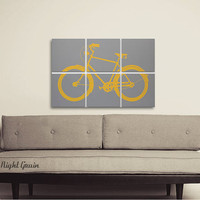 Custom Vintage Bike Screen Print Collection by RightGrain on Etsy