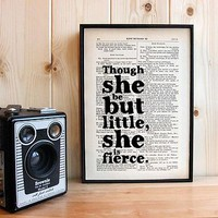 'She Is Fierce' Shakespeare Print