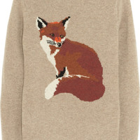 Aubin & Wills | Portland fox-intarsia wool sweater | NET-A-PORTER.COM