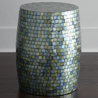 NM EXCLUSIVE Capiz Barrel Stool