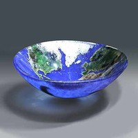 Earth Cast Art Glass Bowl - Eco, Made in USA | GlassSculptureOrg - Glass on ArtFire