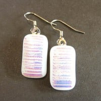 Dichroic Glass Earrings, Dangle Earrings - Fantasy - 950