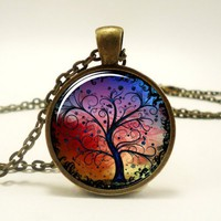 Tree Of Life Pendant, Woodland Jewelry (0630B1IN) | CellsDividing - Jewelry on ArtFire