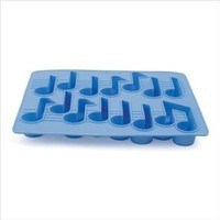 Kikkerland Cool Tunes Mucical Notes Silicone Ice Cube Tray