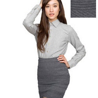 Zig-Zag Knit Pencil Skirt | Skirts | Shop American Apparel