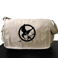 Hunger Games Messenger Bag Mockingjay Large Khaki Laptop Bag | bagnabitbags - Bags & Purses on ArtFire