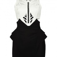 sass & bide |  SHOULDER TO SHOULDER - black & ivory | dresses |