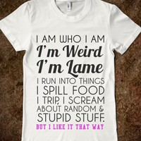 Supermarket: Weird and Lame from Glamfoxx Shirts