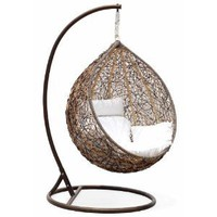 Amazon.com: Trully - Outdoor Wicker Swing Chair - The Great Hammocks DL03AB: Home & Kitchen