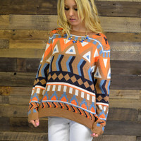 Morning Star Geometric Sweater