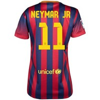 Barcelona Home Shirt 2013/14 - Womens with Neymar Jr 11 printing