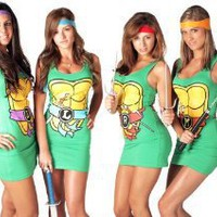 Amazon.com: TMNT Teenage Mutant Ninja Turtles Sexy Tunic Tank Dress: Clothing
