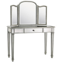 Hayworth Mirror & Vanity - Silver