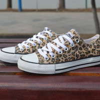 Leopard Control Casual Canvas Shoes JCAEB