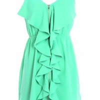 The Mint Front Zipper Dress