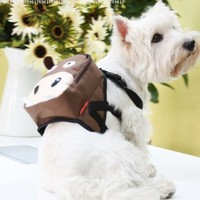 Cute Brown Cattle & Green Frog Dog Bag Dog Backpack Carrier Harness Saddle Bag Size Medium Best Beautiful Good Quality Fast Shipping Ship Worldwide:Amazon:Pet Supplies