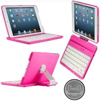 CoverBot iPad Mini Keyboard Case Station PINK. Bluetooth Keyboard For 7.9 Inch New Mini iPad with IOS Commands. Folio Style Cover with 360 Degree Rotating Viewing Stand Feature:Amazon:Computers & Accessories