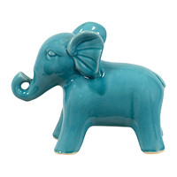 Happy Elephant Decor in Turquoise