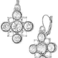 BetseyJohnson.com - CRYSTAL DROP EARRING CRYSTAL