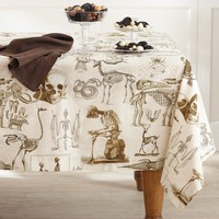 Halloween Skellie Toile Tablecloth
