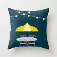 Jolly Cafe | Disney inspired Throw Pillow by Jordan Blaser