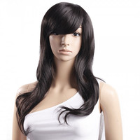 Halloween Special !!!! Cosplay Hair Wig Black Long Black Wig Long Wig High Temperature Silk Black Hair Wig