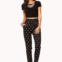Arrow Print High-Waisted Trousers