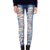 RIPPED SKINNY LEG JEANS - JEANS - WOMAN -  PULL&BEAR United Kingdom