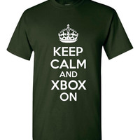 Keep Calm And Xbox On Games Geeks Nerds Graphic Printed Tee Shirt Unisex Great T Shirt For Gamers Up to Size 4XL