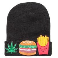 WEED BURGER FRIES BEANIE