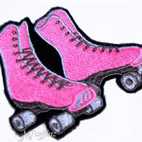 Roller Derby Skates  Iron On Patches Steampunk gothic anime punk