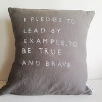 I Pledge to Pillow (More Colors) | BRIKA - A Well-Crafted Life