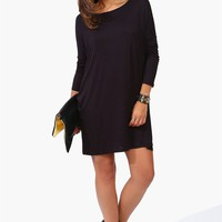 Basic Fall Dress in Black