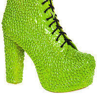 Jeffrey Campbell The Lita Drip Shoe in Green SlimeExclusive