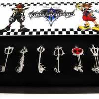Kingdom Hearts Metal Keyblade Sword Weapon Set Of 8