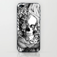 Butterfly rose skull with ladybugs. Good luck iPhone & iPod Skin by Kristy Patterson Design