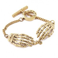 Bone Hands Bracelet by Youreyeslie.com Online store> Shop the collection