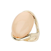 Iridescent peach stone ring - Rings - Fashion Jewellery  - Accessories