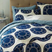 Wood-Block Flower Duvet + Shams | west elm