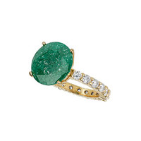 Premium Green Cubic Zirconia Ring - Jewelry  - Bags & Accessories