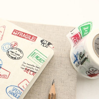 Caution Stamps Washi Tape