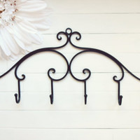 Metal Wall Hanger / Wall Hooks / Jewelry Rack / Jewelry Hanger / Towel Rack / Coat Hook / Metal Wall Decor / Black Decor / Customize Colors
