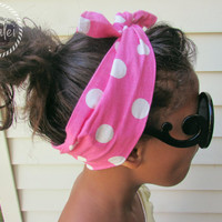 Womens Headband - Polka Dot Headband