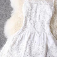 NICE LACE HANDMADE CUTE DRESS