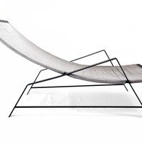 COPENHAGEN - modern steel and cotton corded lounge chair