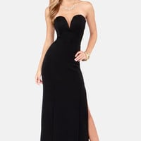 TFNC Patcha Strapless Black Maxi Dress