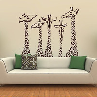 Giraffe Wall Decals Giraffe Family Wall by singlestonestudios